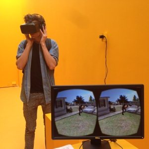 In the Virtual Reality Arcade at Sheffield Doc/Fest 2015. Photo: Kate Rogers.